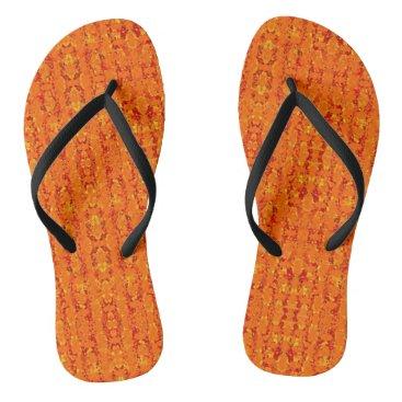 Aztec Themed Aztek Orange flip flops