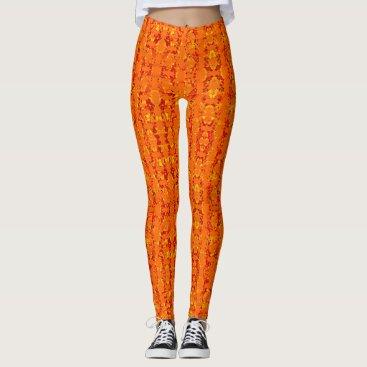 Aztec Themed Aztek Orange leggings