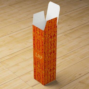 Aztec Themed Aztek Orange wine gift box
