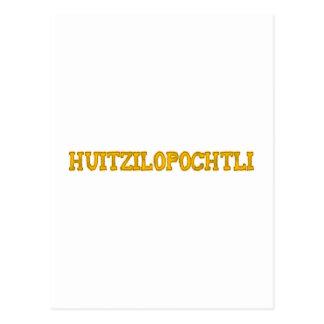 Aztekengott aztec god Huitzilopochtli Postkarten