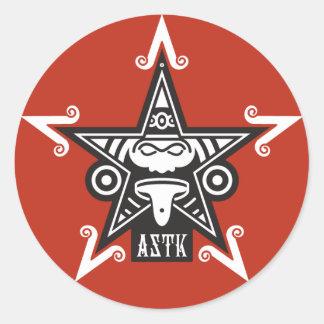 AZTK-5-3'' CLASSIC ROUND STICKER