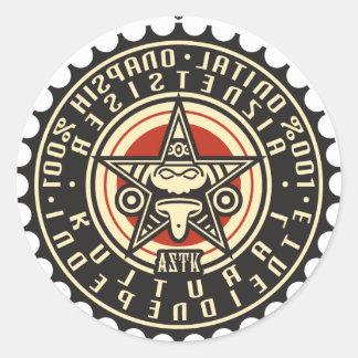 AZTK-RK-100%-3'' ROUND STICKER