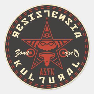 AZTK-RK-zz-3'' Classic Round Sticker