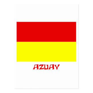 Azuay flag with Name Postcard