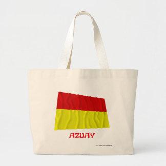 Azuay waving flag with Name Large Tote Bag