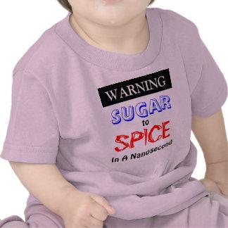 Azúcar amonestador a condimentar en un nanosegundo camisetas