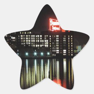 Azúcar Baltimore del dominó en la noche Pegatina En Forma De Estrella