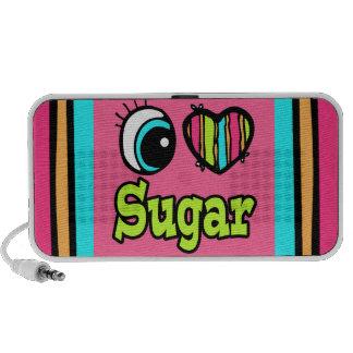Azúcar brillante del amor del corazón I del ojo iPhone Altavoz