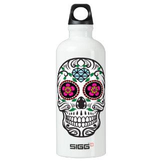 Azúcar colorido lindo Skull Dia de los Muertos Botella De Agua