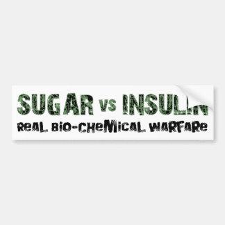 Azúcar contra la insulina etiqueta de parachoque