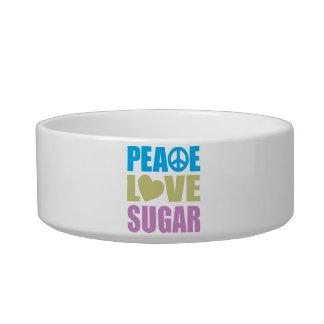 Azúcar del amor de la paz tazones para gatos