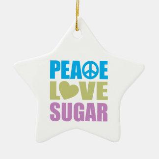 Azúcar del amor de la paz adorno de cerámica en forma de estrella