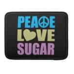 Azúcar del amor de la paz fundas macbook pro