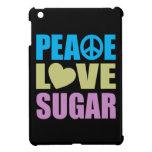 Azúcar del amor de la paz iPad mini coberturas