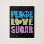 Azúcar del amor de la paz rompecabezas con fotos