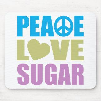 Azúcar del amor de la paz alfombrillas de raton