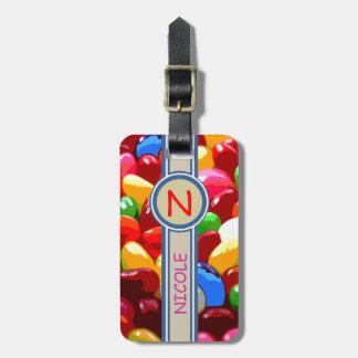 azúcar del dulce del caramelo etiquetas para maletas