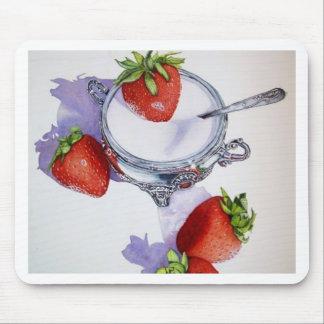 Azúcar del n de las fresas tapetes de raton