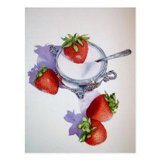 Azúcar del n de las fresas tarjeta postal