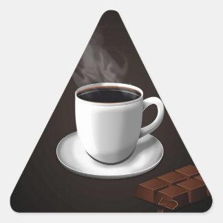 Azúcar diario abstracto del chocolate pegatina triangular