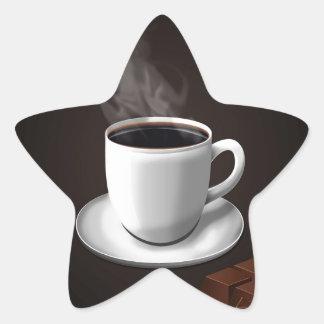 Azúcar diario abstracto del chocolate pegatina en forma de estrella