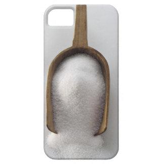 Azúcar en una cucharada de madera iPhone 5 cobertura