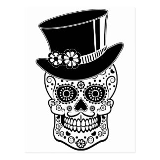 Azúcar Skull-01 del caballero Postales