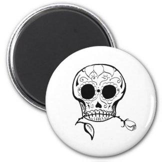 Azúcar Skull Día de los Muertos Imán Redondo 5 Cm