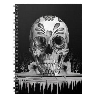Azúcar tirado, cráneo de fusión del azúcar cuaderno