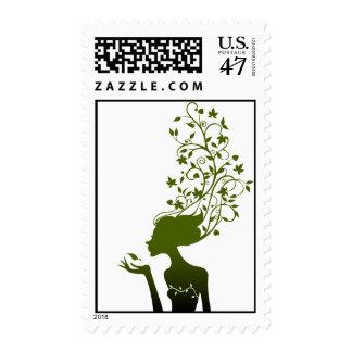 azúcar verde sellos postales