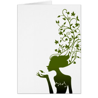 azúcar verde tarjeta de felicitación