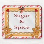 Azúcar y especia alfombrilla de raton