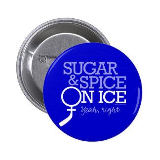 Azúcar y especia en el hielo pins