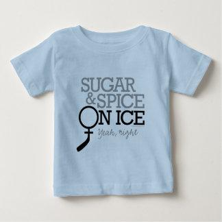 Azúcar y especia en el hielo playera de bebé
