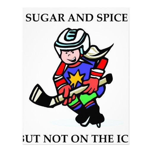 Azúcar y especia pero no en el hielo membrete a diseño