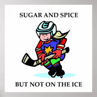 Azúcar y especia pero no en el hielo posters