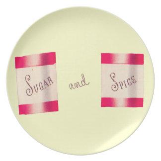 Azúcar y especia plato de comida