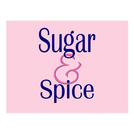 Azúcar y especia postal