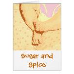 Azúcar y especia tarjetón