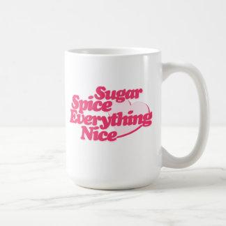 Azúcar y especia taza básica blanca