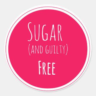 azúcar y pegatina libre culpable