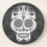 Azucare el arte del cráneo - día del práctico de c posavaso para bebida