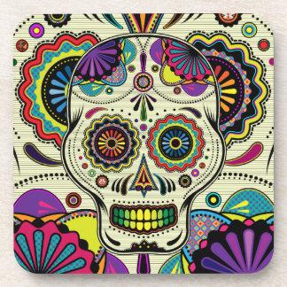 Azucare el arte del cráneo/el día de los prácticos posavasos de bebidas