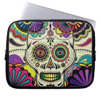 Azucare el arte del cráneo/el día del bolso muerto fundas portátiles