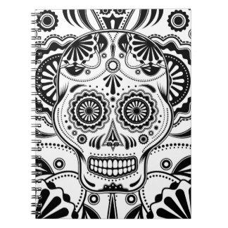 """Azucare el arte """"día del cráneo"""" del cuaderno muer"""