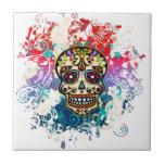 Azucare el cráneo, México, Dias de los Muertos Azulejos Cerámicos