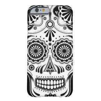 Azucare el día del arte del cráneo del caso muerto funda de iPhone 6 barely there