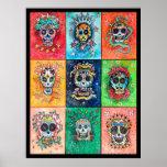 Azucare los cráneos 9 - arte original de Dori Hart Póster