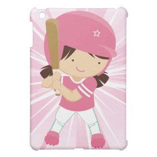 Azufaifas del chica del softball en rosa y blanco