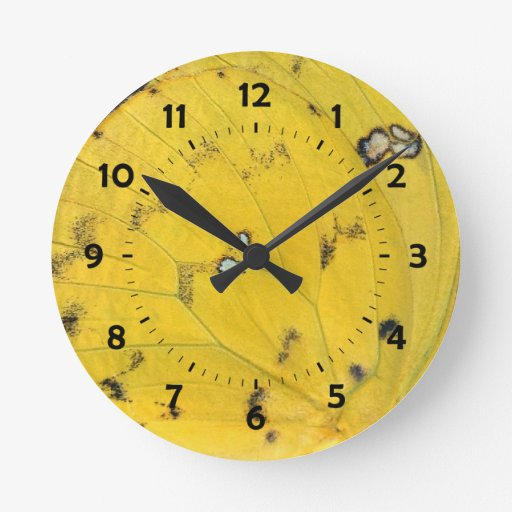 azufre Naranja-barrado 02/13 Reloj Redondo Mediano